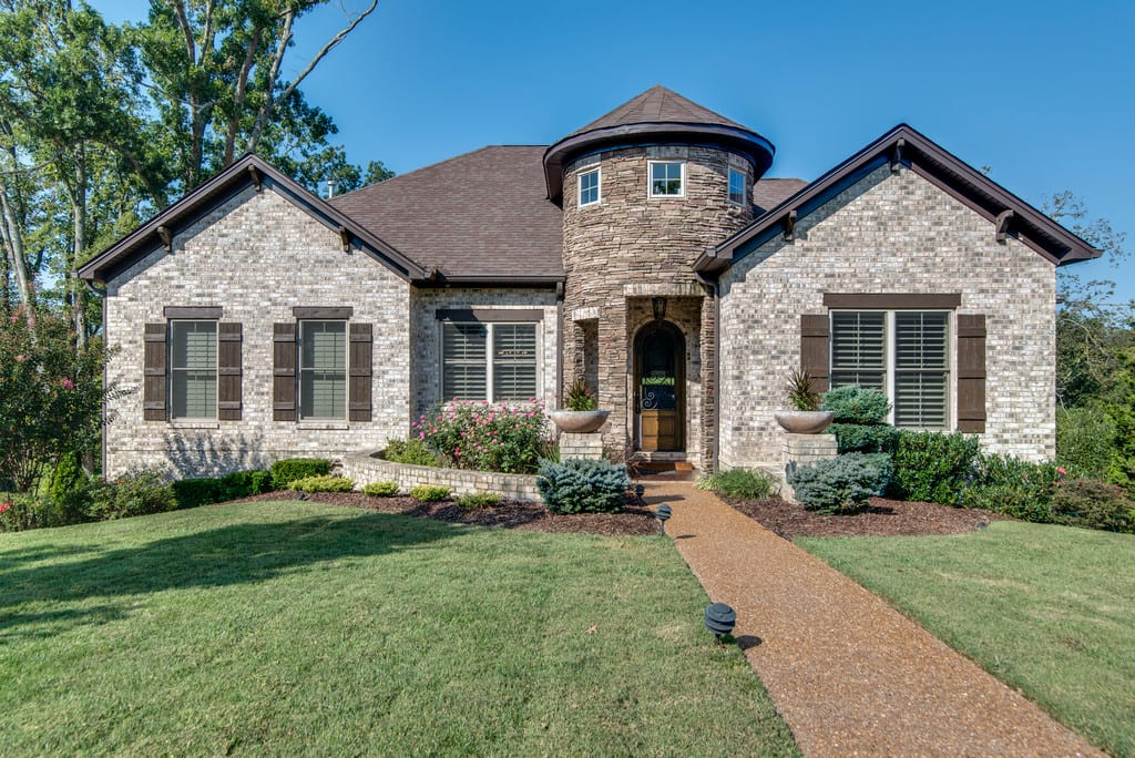 Custom Home built in Oakwood New Home Communities. Our homes have brick and stone exteriors.